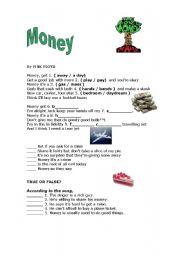 English Worksheet: Money - Pink Floyd Song