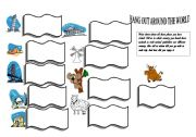 English Worksheets: Hang out around the world