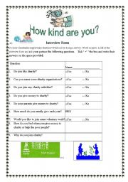 English Worksheets: How kind are you