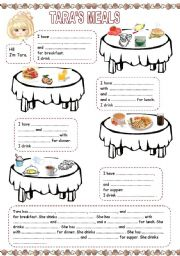 English Worksheet: Tara�s meals (1)