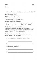 English Worksheets: Does / Doesn�t