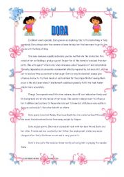 English Worksheets: DORA, THE EXPLORER!