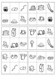 English Worksheet: FOOD BINGO GAME