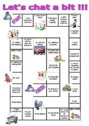 English Worksheets: speaking game