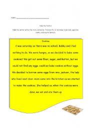 English Worksheet: Editing Worksheet