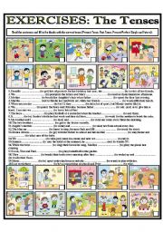 English Worksheets: EXERCISES: The Tenses