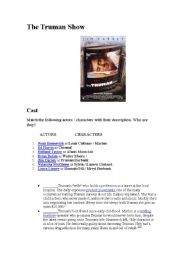 English Worksheets: The truman Show