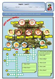 English Worksheet: MEET BOB�S FAMILY
