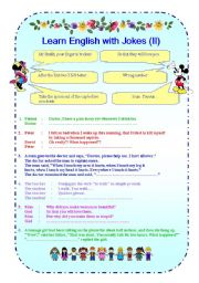 English Worksheets: Learn English with Jokes (II)