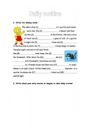 English Worksheets: Lisa�s daily routine