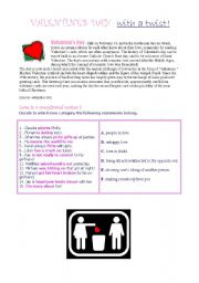 Valentine´s Valentines Day With a Twist! (intermediate/upper int. level)