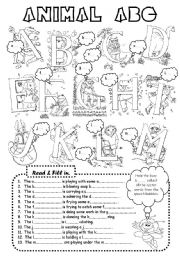 English worksheet: Animal ABC (3 pages)