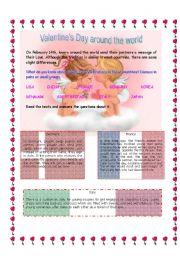 English Worksheet: Valentine´s Day around the world