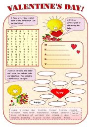 VALENTINES DAY! - FUN AVTIVITIES FOR KIDS - 2 pages.