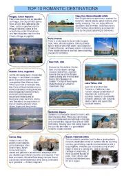 English Worksheets: Top ten romantic destinations