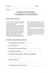 English Worksheets: Looking for a new penfriend