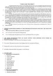 English worksheet: Two tests on comprehension: