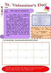 English Worksheet: St. Valentine´s Day