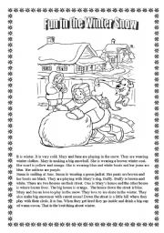 English Worksheet: Winter Fun Activity Worksheets!