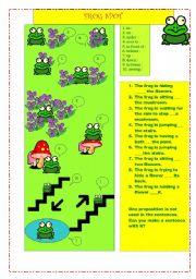English Worksheet: Frog Spot