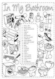 English Worksheet: In my bathroom