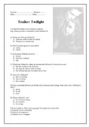 English Worksheets: Twilight trailer