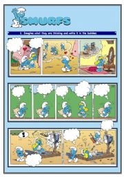 English Worksheets: SMURFS II - COMIC STRIPS