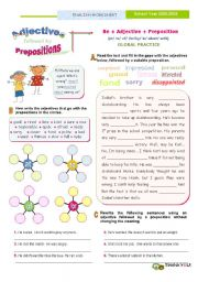 English Worksheet: Adjectives Followed by prepositions  - (Last one) -  Global Practice