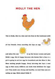 English Worksheets: MOLLY THE HEN