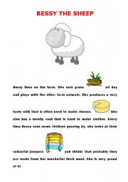 English Worksheets: Bessy the sheep