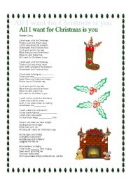 Mariah Carey All I Want For Christmas Is You Lyrics.All I Want For Christmas Worksheets