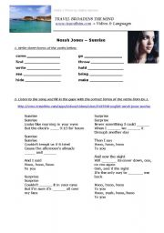 English Worksheet: Norah Jones - Sunrise