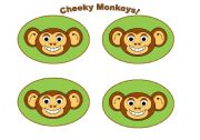 English Worksheets: Monkey Cards (Add your own text) Use them with my monkey gameboard.