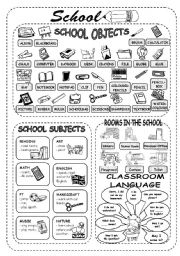 English Worksheets: School