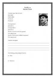English Worksheets: Factfile on Hercule Poirot