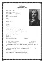 English Worksheets: Factifile on Arthur Conan Doyle