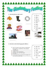 English Worksheets: The Glastonbury Festival (Activities - part 2)