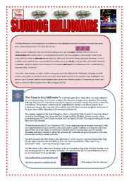 SLUMDOG MILLIONAIRE: READING & VOCABULARY (2 PAGES + ANSWERS)