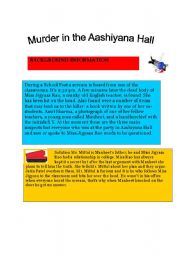 English Worksheets: Murder in the Aashiyana Hall