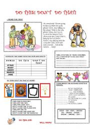 English Worksheet: DO THIS! DON�T DO THAT! - IMPERATIVES