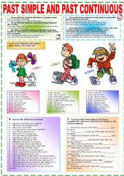 English Worksheet: PAST SIMPLE AND PAST CONTINUOUS