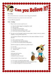 English Worksheets: The World�s Biggest Liar (Activities about the article) With Answer key!