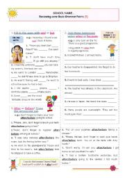 English Worksheets: Reviewing Basic Grammar Points series (5)  - Basic linking words: and or but;/ because or when/ after or before / because or because of / both (of) / not only...but also