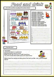 English Worksheet: Food and drink part 2