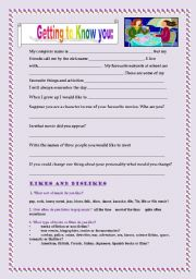 English Worksheets: FIRST CLASS ACTIVITY