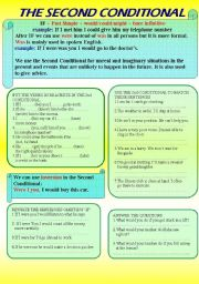 English Worksheet: The Second Conditional 2/3