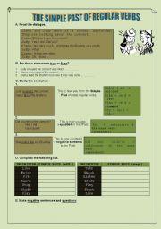 English Worksheet: simple past of regular verbs