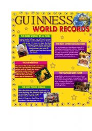 English Worksheets: Guinness World Records - Part 1