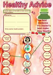 English Worksheets: Healthy Advice...