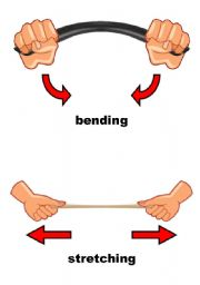 English Worksheets: Actions: bending, stretching    [1 of 4]